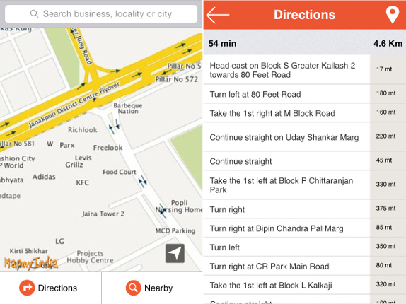 Mapmyindia iphone