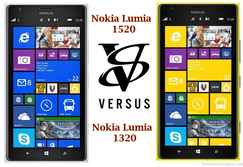 Nokia Lumia 1520 vs 1320