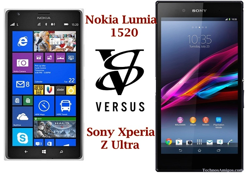 Nokia Lumia 1520 vs Xperia Z Ultra