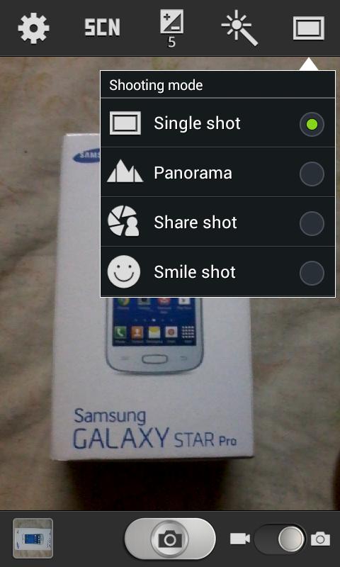 Samsung Galaxy Star Pro Camera features