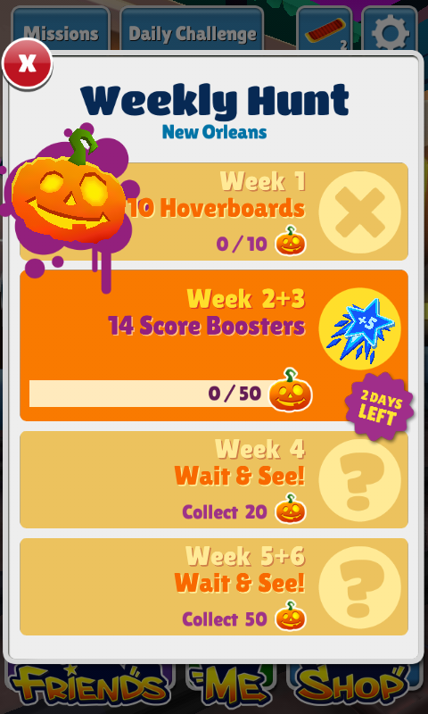 Subway Surfers Weekly Hunt