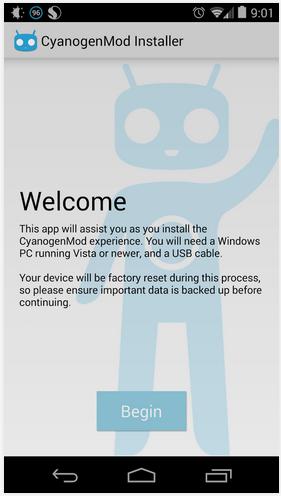 CyanogenMod Installer App