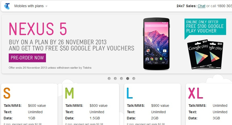 Nexus 5 Telstra