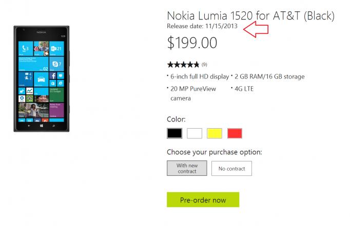 Nokia Lumia 1520 AT&T
