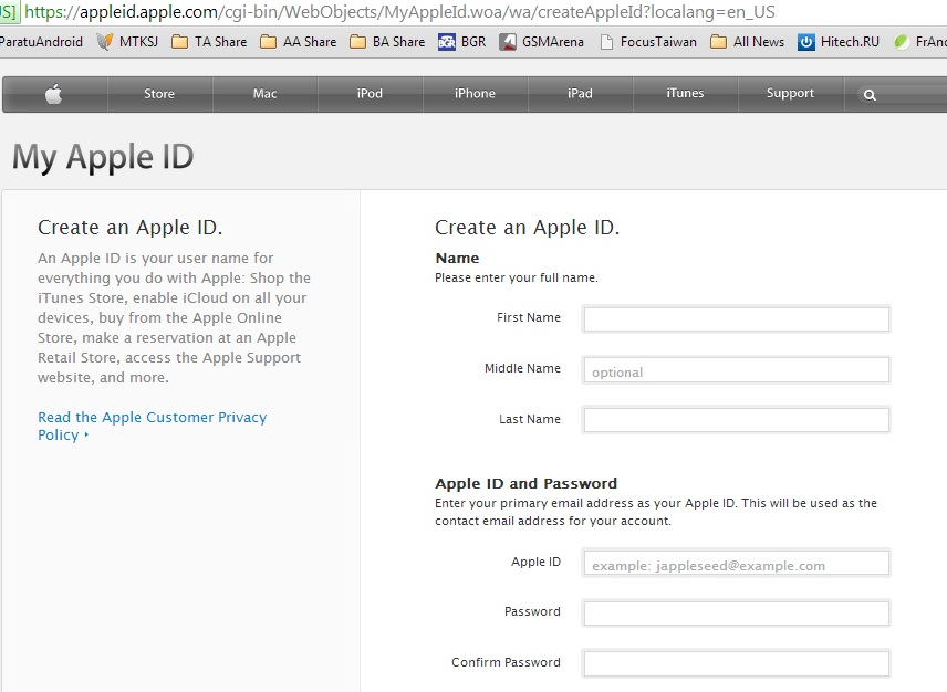 Apple ID Details