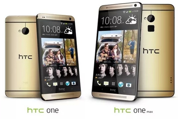 HTC One Amber Gold
