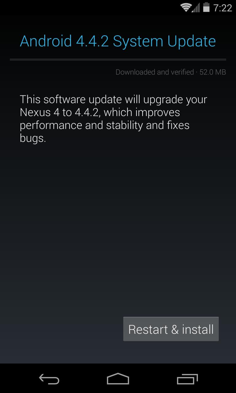 Nexus 4 Android 4.4.2