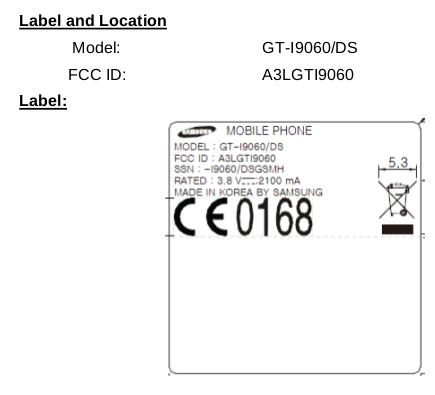 Samsung Galaxy Grand Lite FCC