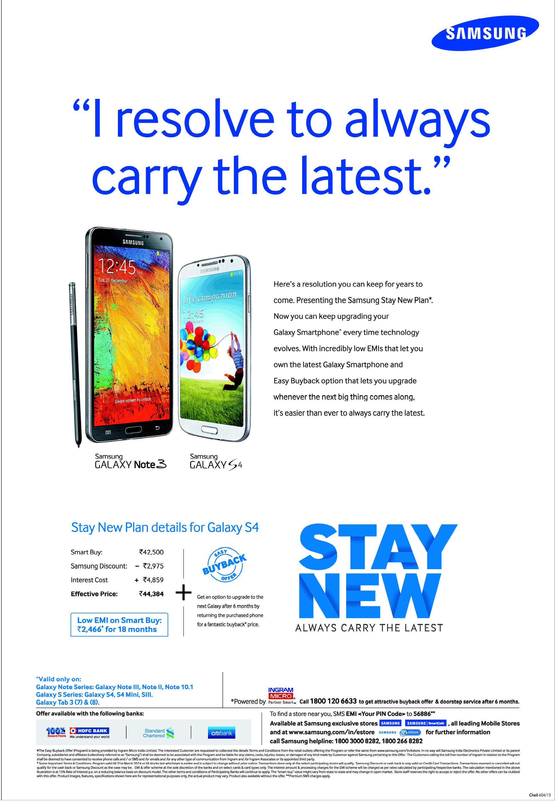 Samsung Stay New Plan