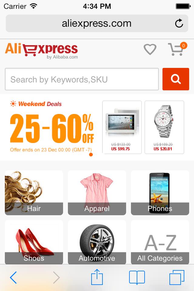 AliExpress Firefox app