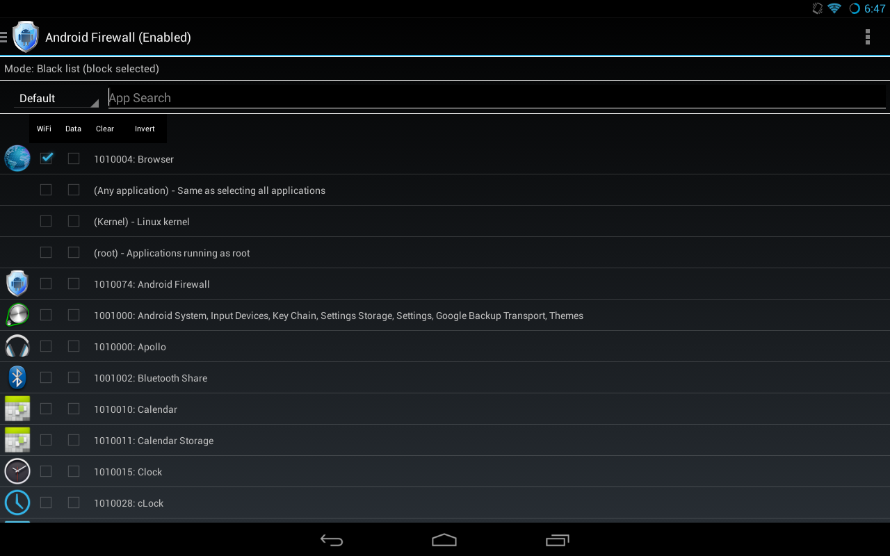 Android Firewall app