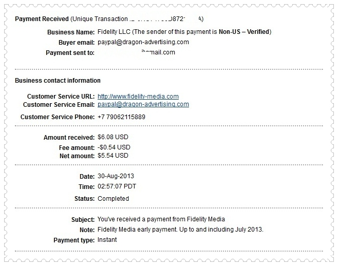 Fidelity Media Payment
