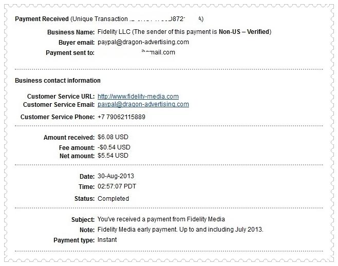 Fidelity Media Payment