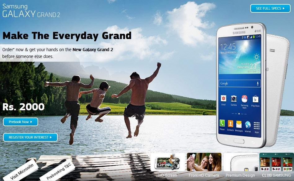 Galaxy Grand 2 Pre Order