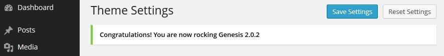 Genesis theme update complete