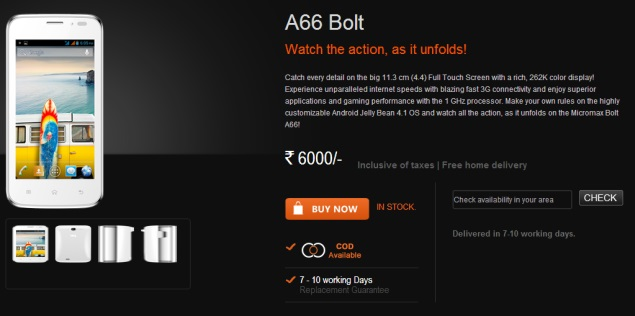 Micromax Bolt A66 Pictures