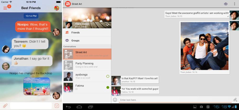 Mxit Android, ios app