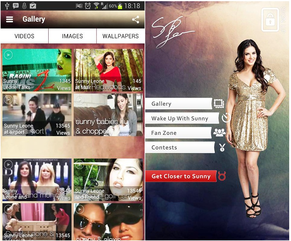 Sunny Leone App for iPhone, Android