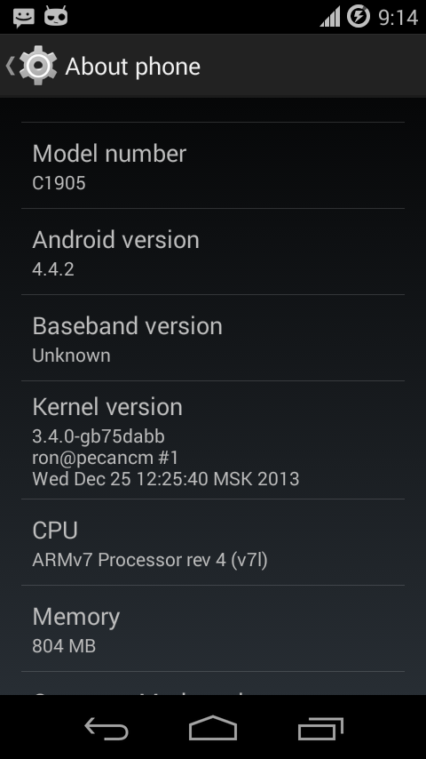 Xperia M Android 4.4.2