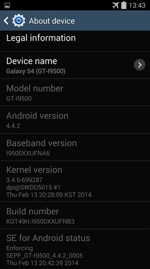 Galaxy S4 Kitkat Update USA