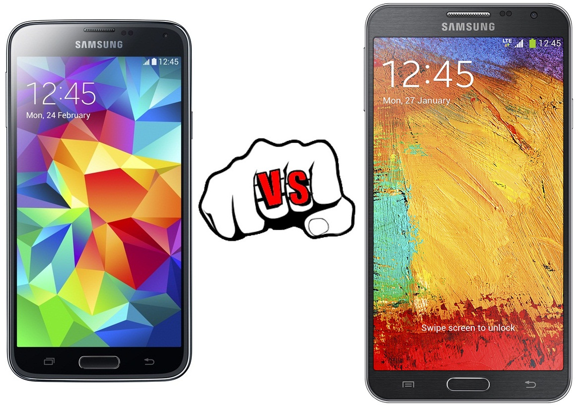 Samsung Galaxy S5 vs  Note 3