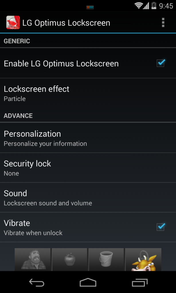 LG G2 Lockscreen app