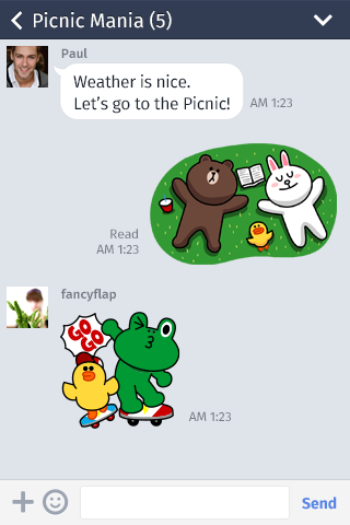 Line on Firefox Phones