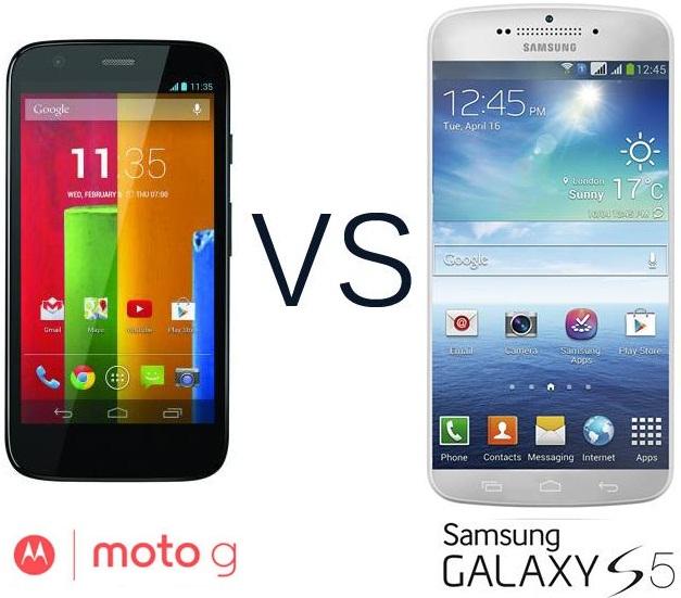 Samsung Galaxy S4 vs Moto G