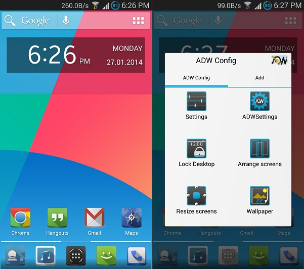 ADW Launcher Android