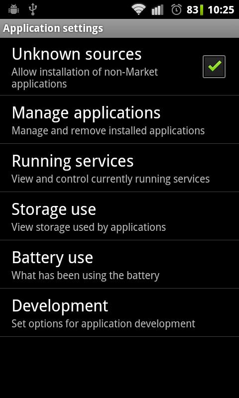 App Installation Unknown Sources