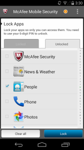 McAfee Android App