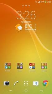 Sony Xperia Z2 Home Launcher