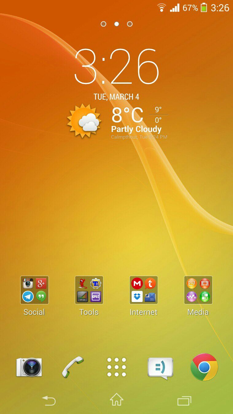 Sony Xperia Z2 Home Launcher