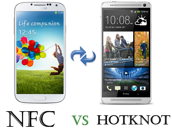 data transfer Mediatek Hotknot vs NFC