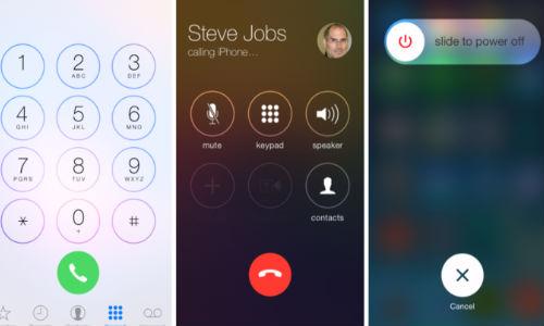 iOS 7.1 dialer