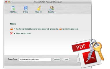 Amacsoft PDF Password Remover for Mac