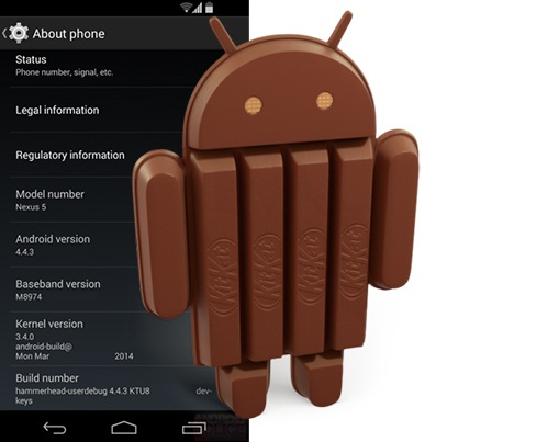 Nexus Android 4.4.3 update