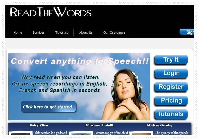 ReadThewords Text to Speech Converter