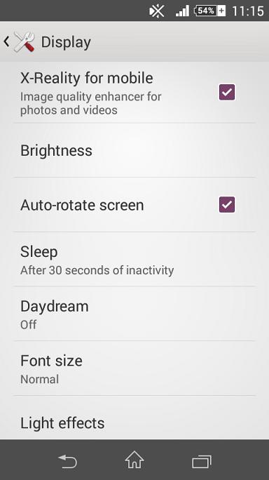 Sony Xperia Z2 X-Reality Display