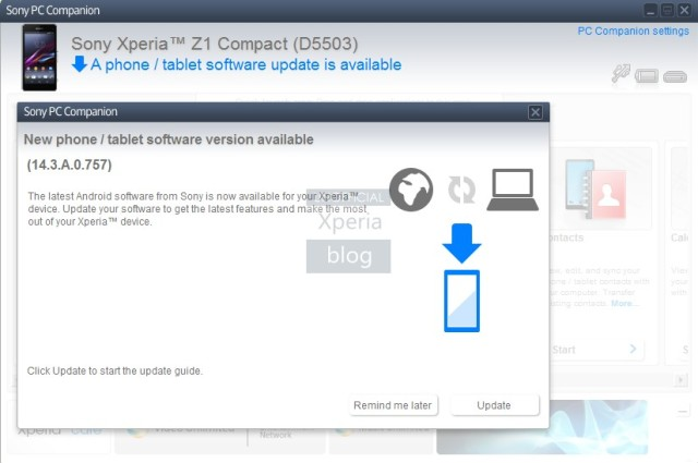 Sony Xperia Z1 Compact Update