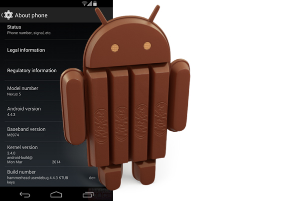 Sprint Nexus 5 Android 4.4.3