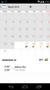 Xperia Z2 Calendar APK