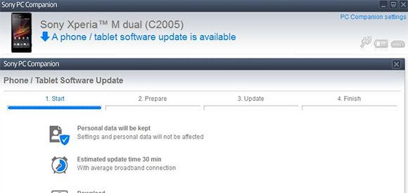 Xperia m JB Update