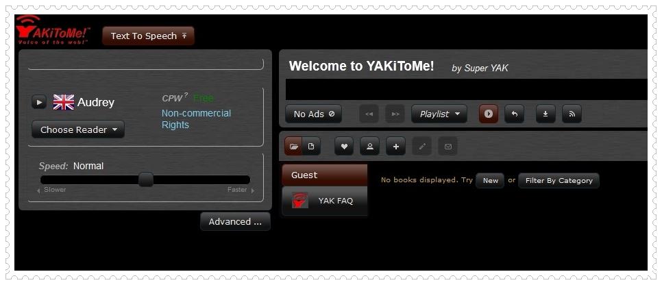 YakiToMe Text to Speech Converter