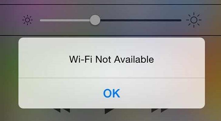 iOS 7.1 Error WiFi Not Available