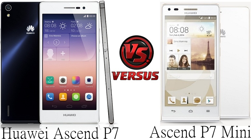 Huawei Ascend P7 vs P7 Mini