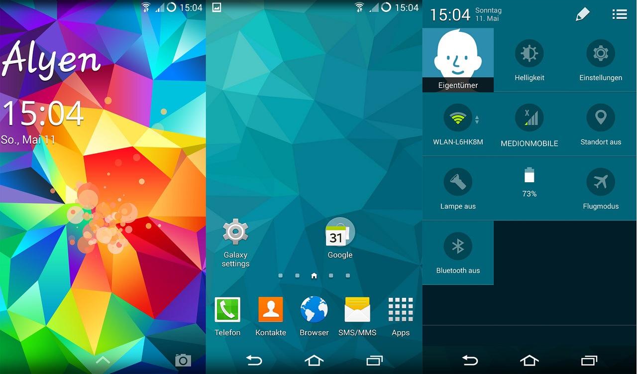 LG G2 Galaxy S5 Looks