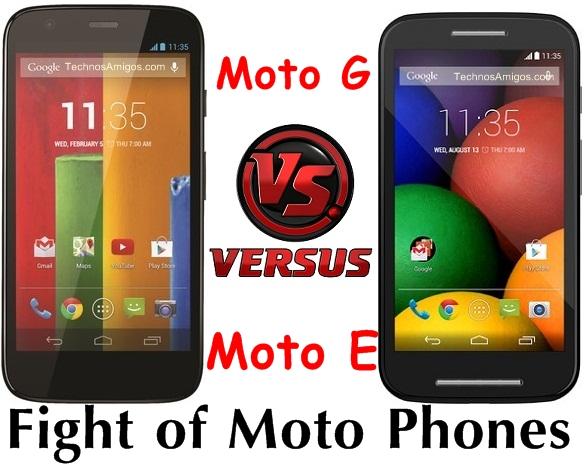 Motorola Moto G vs Moto E