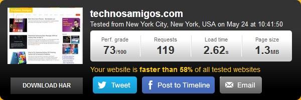 TechnosAmigos Speedtest