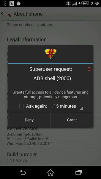 Xperia Z2 SuperSU